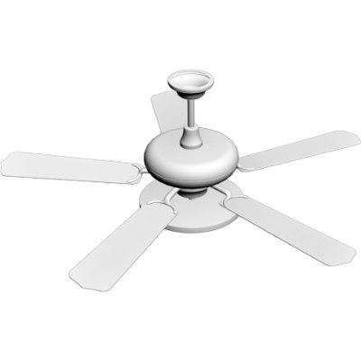 ceiling fan light 3d model