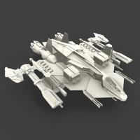 free blend model spaceship guns