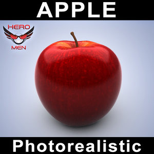 photorealistic apple 3d model