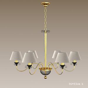 baga 624bl chandelier 3ds