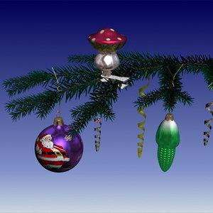 maya glass christmas balls