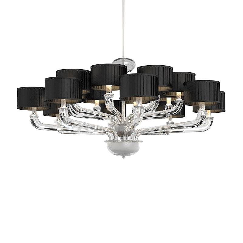 Barovier toso chandelier 3d max for Barovier e toso