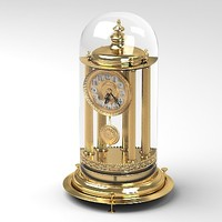 classic baroque fireplace clock