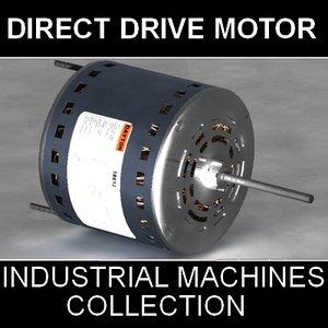 3d model direct drive blower motor