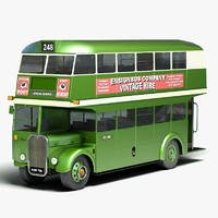 3d model traditional double decker bus