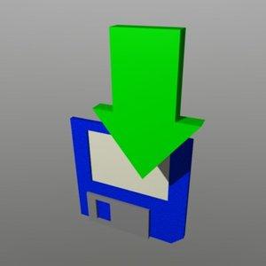 floppy disk 3d model