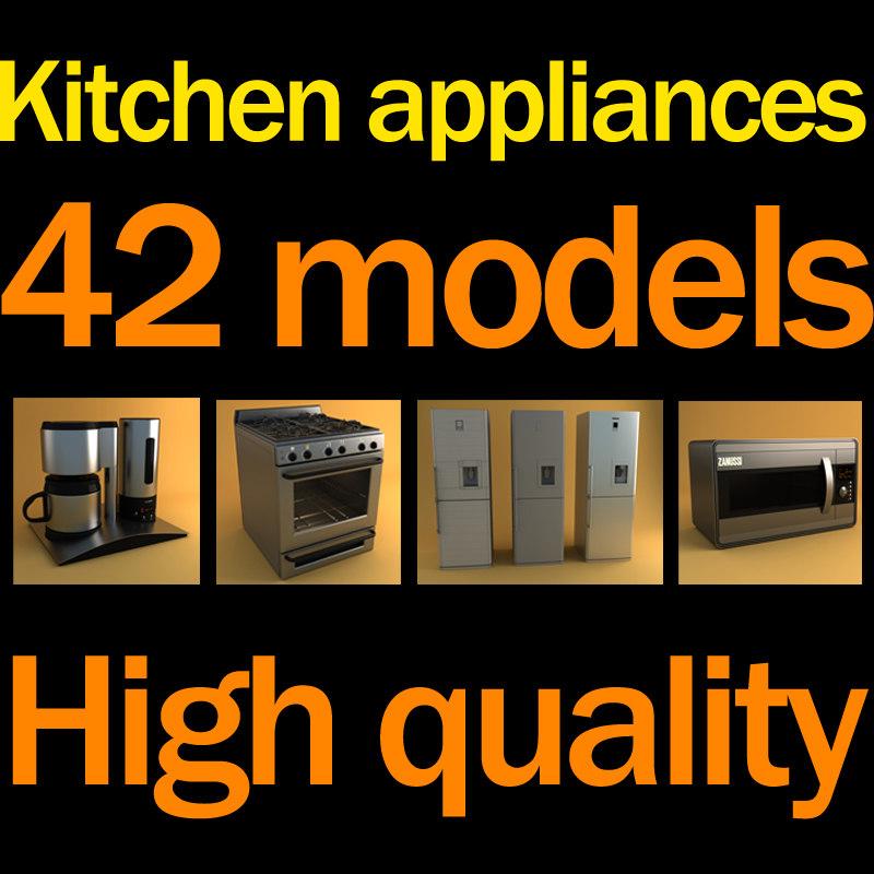 3d model of kitchen appliances
