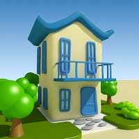 3d cartoon home model