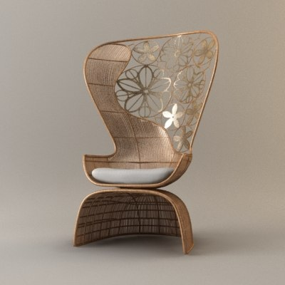 crinoline armchair 3d model