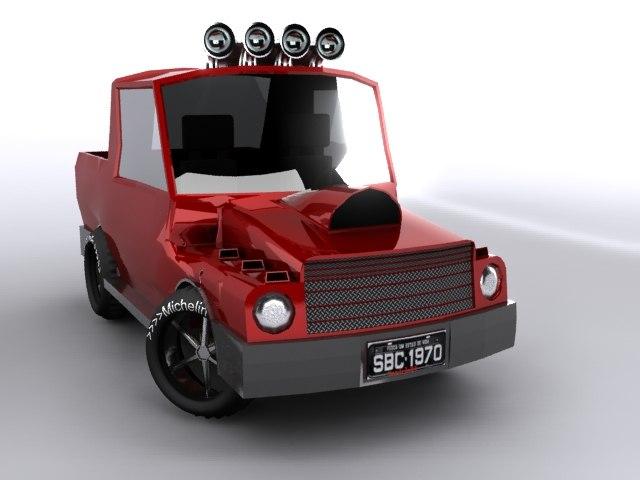 3dsmax truck cartoon