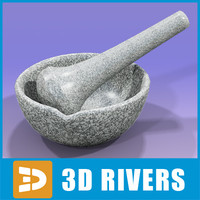 Mortar and pestle by 3DRivers