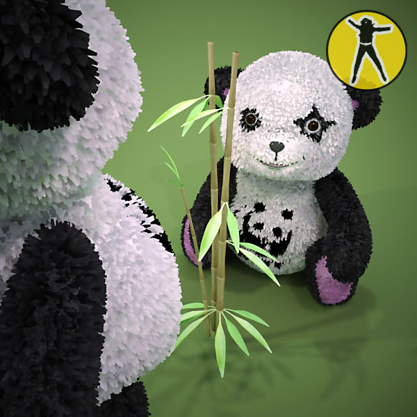 teddy panda bear 3d model
