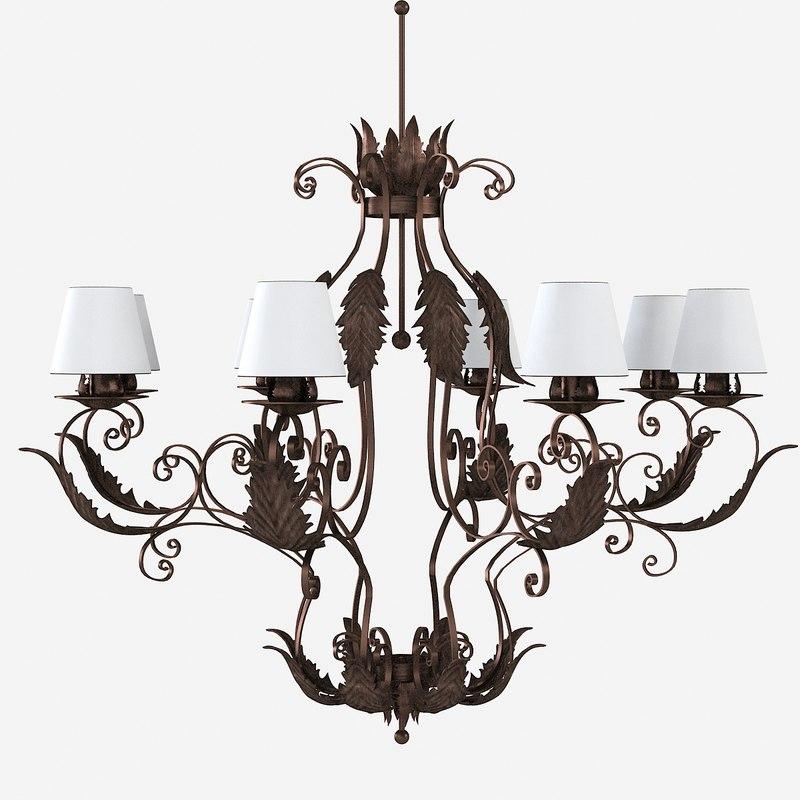 3d paoletti chandelier classic model