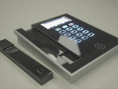 3d beautiful modern desktop telephone