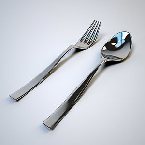 free 3ds model fork spoon