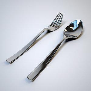 free 3ds model fork spoon