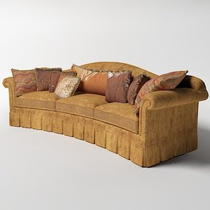 3ds max provasi curved sofa