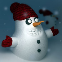 3ds max little snowman