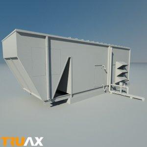 3d studio large ac unit model
