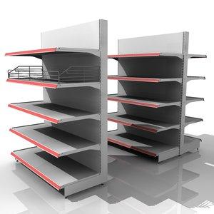 3d model shelves shelf