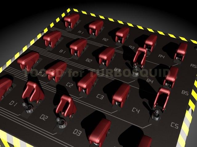 3d switch panel model