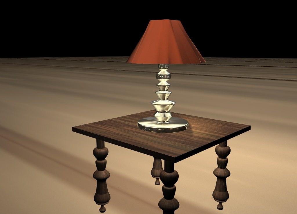 lamp table 3d c4d