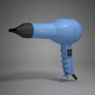 3d model hair dryer