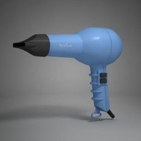 3d model hair dryer