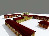 3d model of rural farm