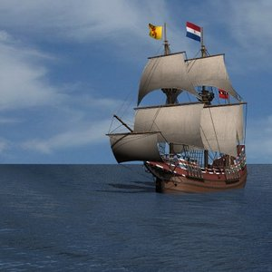 half moon galleon ship 3ds