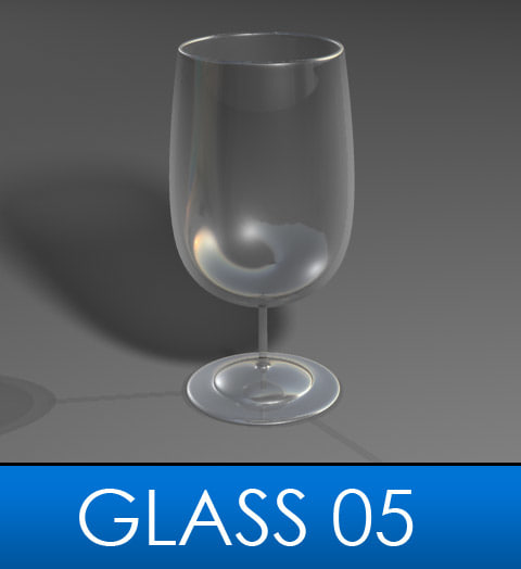 3d elegant wine glass