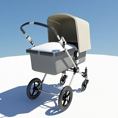 3d bugaboo baby buggy