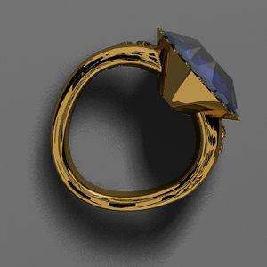 sapphire ring 3d model