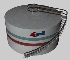 oil tank 3d model