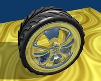 Tire, rim