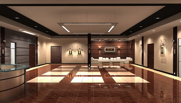 3d model office hall