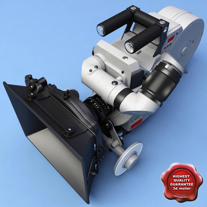 film camera ariflex 535b 3d model