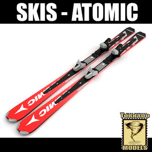 3ds max alpine atomic skis