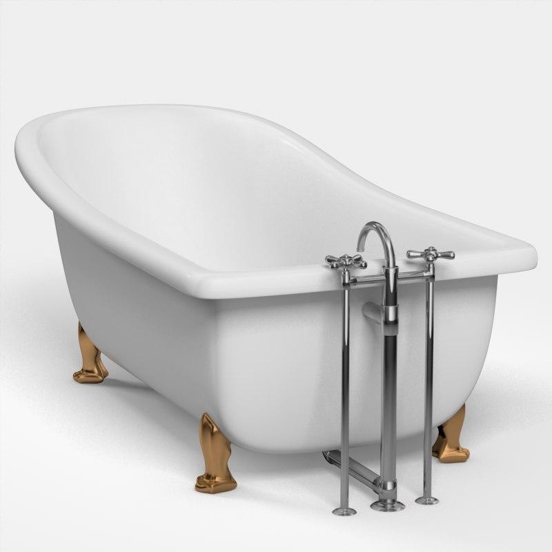 3d Classic Bathtub