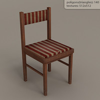 low-poly chair max