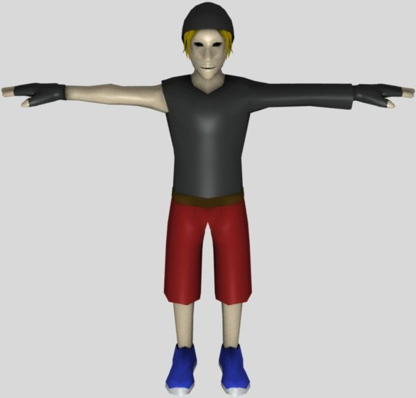 3d fantasy athlete model