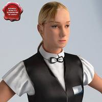 3d model dealer woman