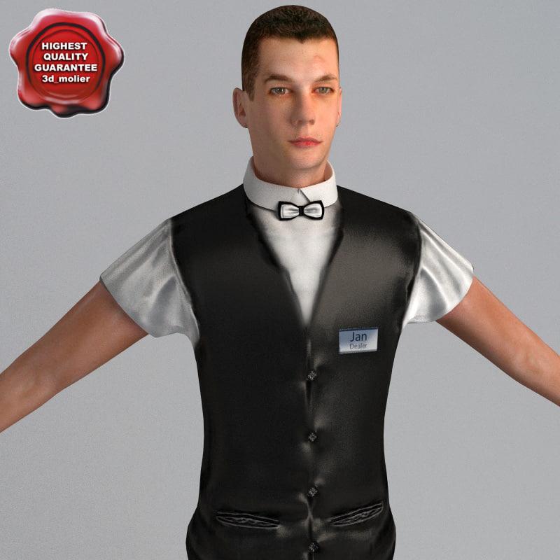 3d dealer man static