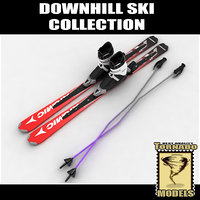 Downhill Skis Boots & Poles Collection