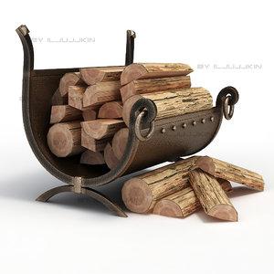 wood firewood 3ds