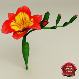 freesia modelled 3d 3ds