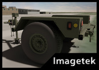 military hmmwv towable trailer 3ds