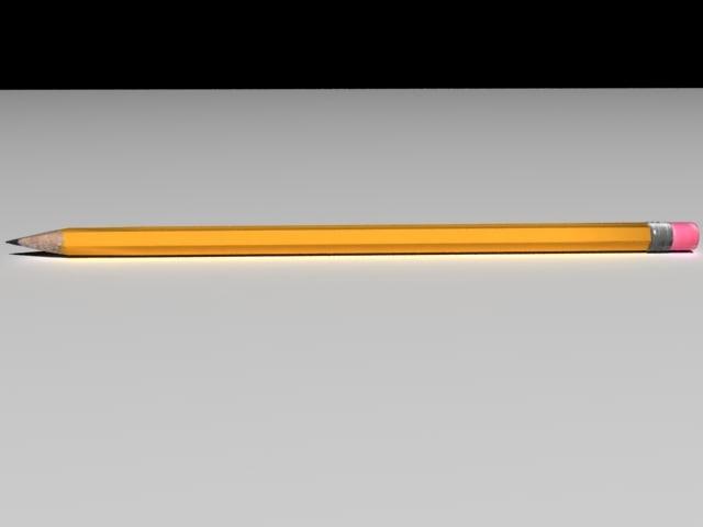 wooden pencil 3d model