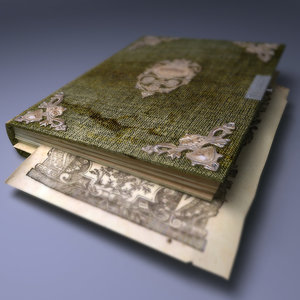 3d model old green book