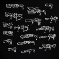 3d weapons model